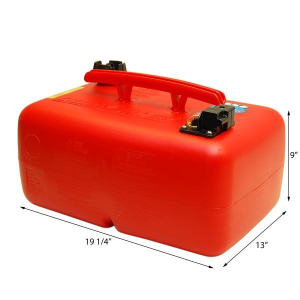 MERCURY QUICKSILVER 6.6 GAL BOAT FUEL TANK W/ GAUGE